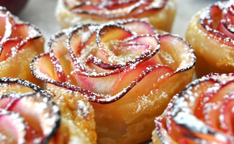 roses pommes caramel
