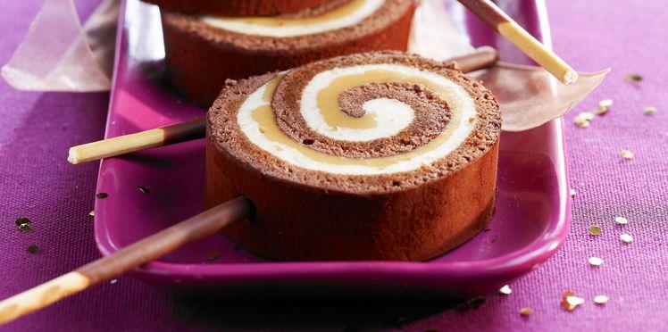 sucette chocolat caramel