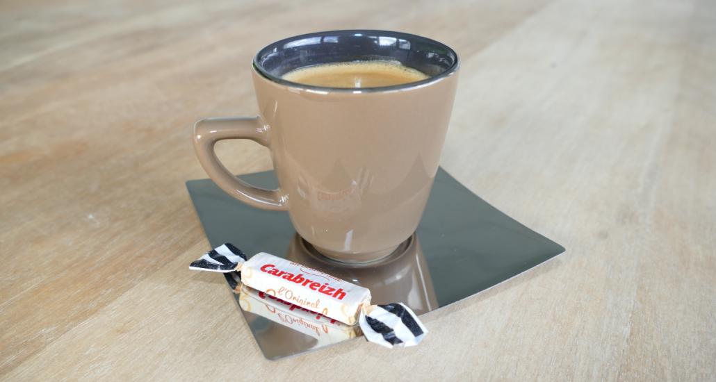 caramel en barre café
