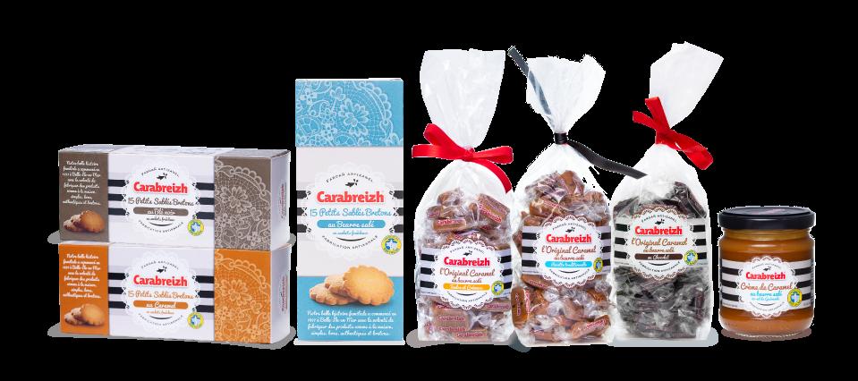 Caramels bonbons biscuits carabreizh