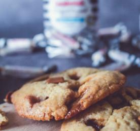 Recette cookies crunchy pépites caramel carabreizh